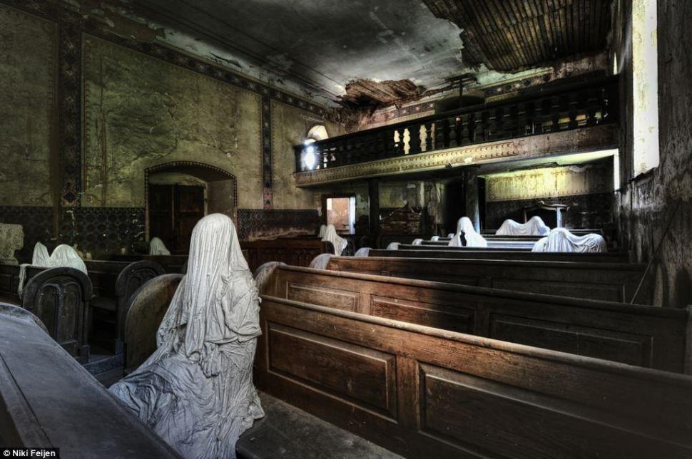 An Abandoned Church With A Few Lingering Parishioners Czech Republic