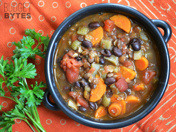 14. Chunky Lentil & Vegetable Soup