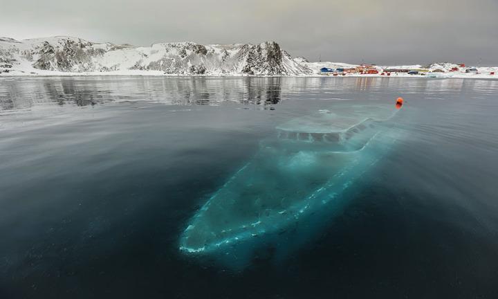 2. Sunken Yacht, Antarctica