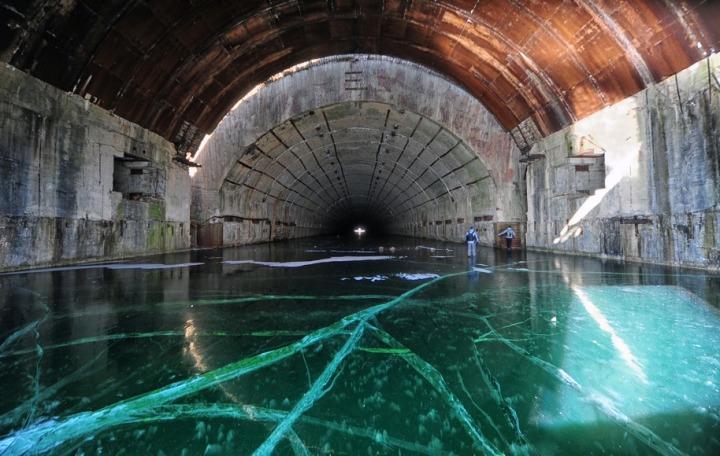 29. Abandoned Soviet submarine base