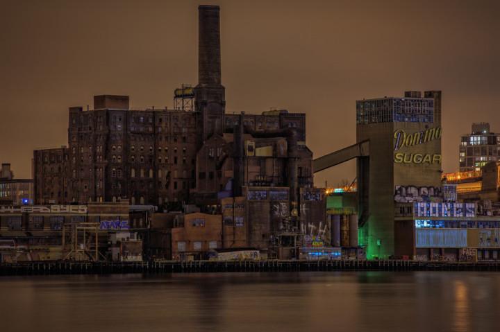 3. Abandoned Domino Sugar Factory -- Brooklyn, New York