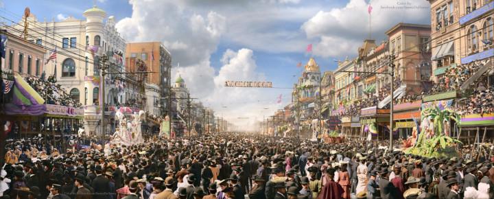 29b. Mardi Gras, New Orleans, year 1907