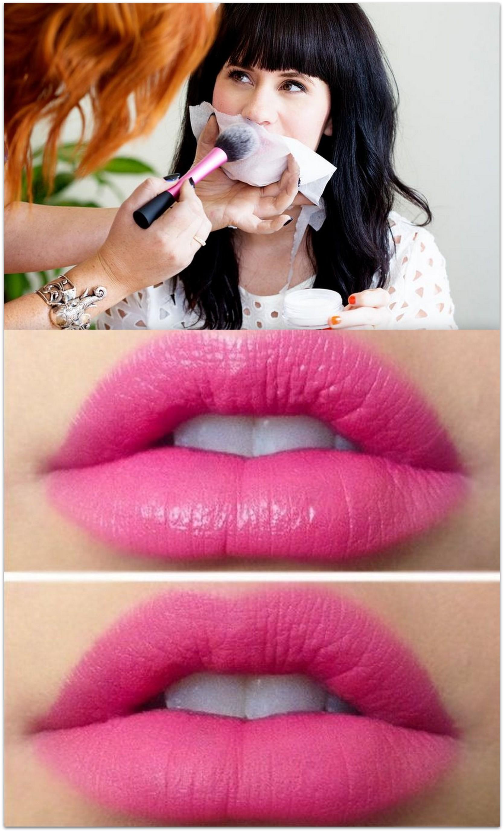 Mattify lipstick