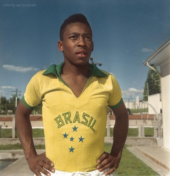 10b. Edson Arantes do Nascimento, Soccer legend Pele. Sao Paulo, (1958)