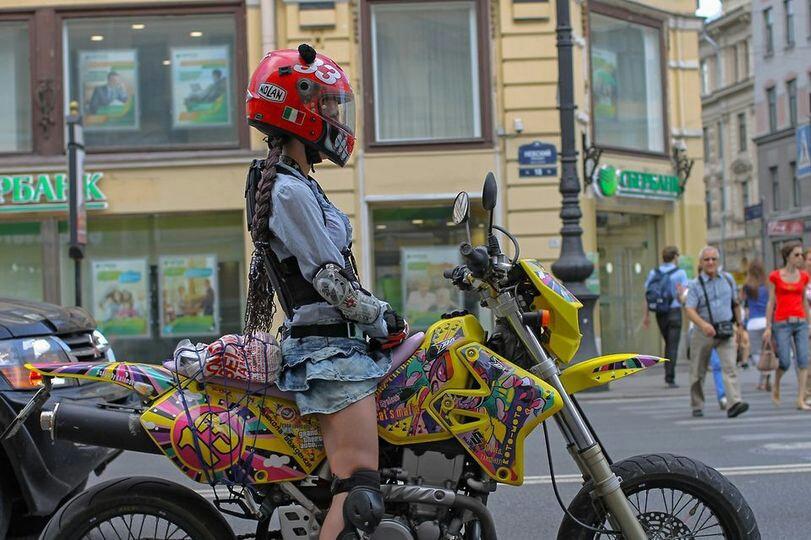 30. A biker chick