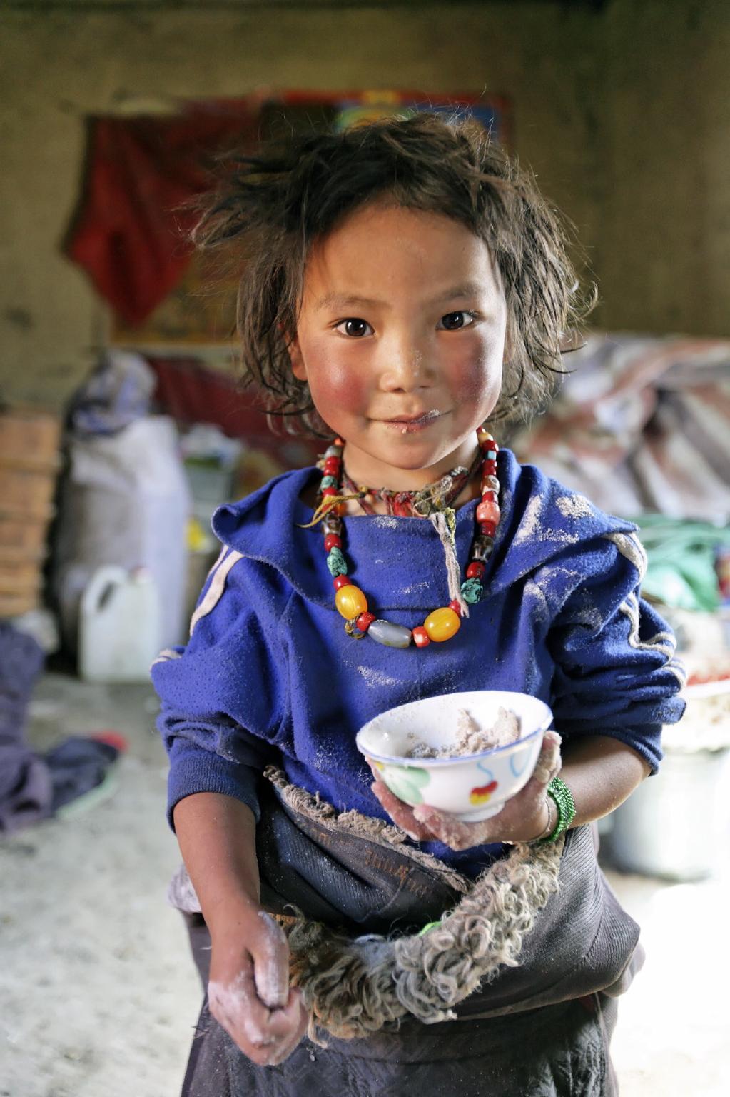 32. A charming Tibetan girl