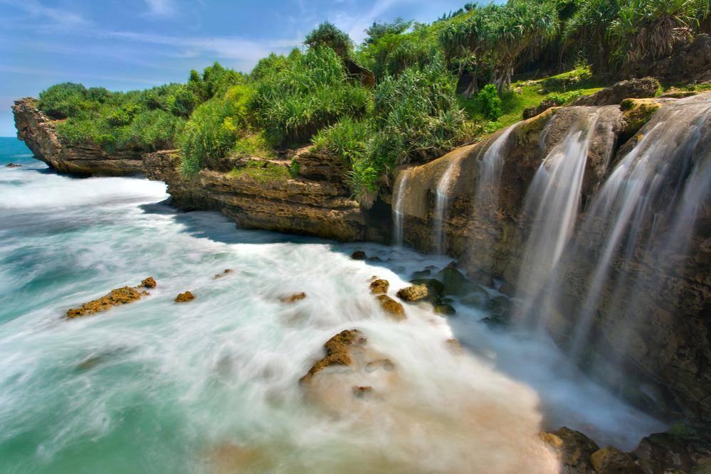 13c. Jogan Beach Waterfall, Purwodadi village, Yogyakarta