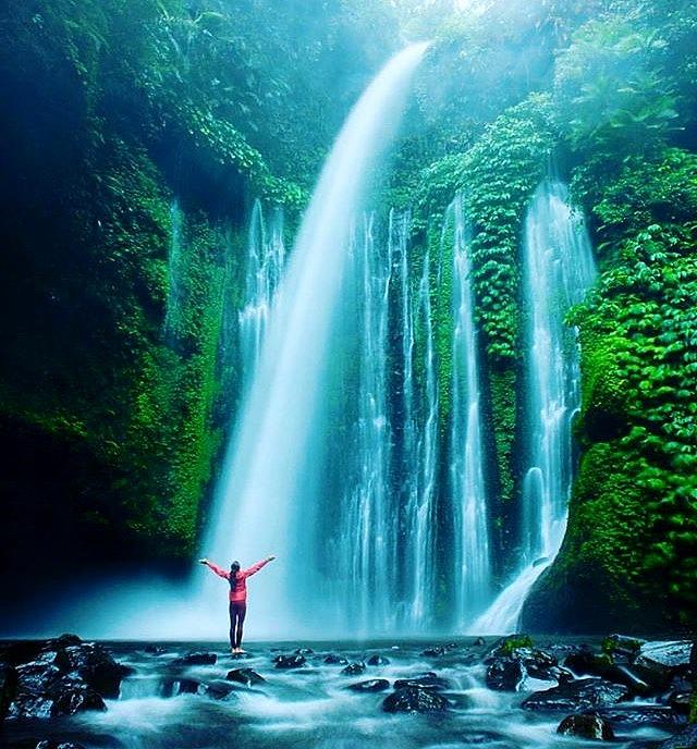 9. Sendang Gile Waterfalls, Lombark