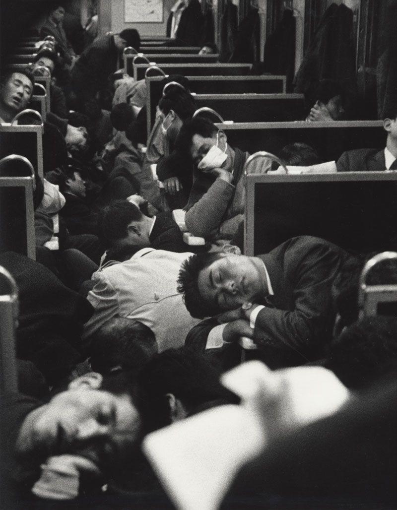 44. Early train Tokyo, 1964